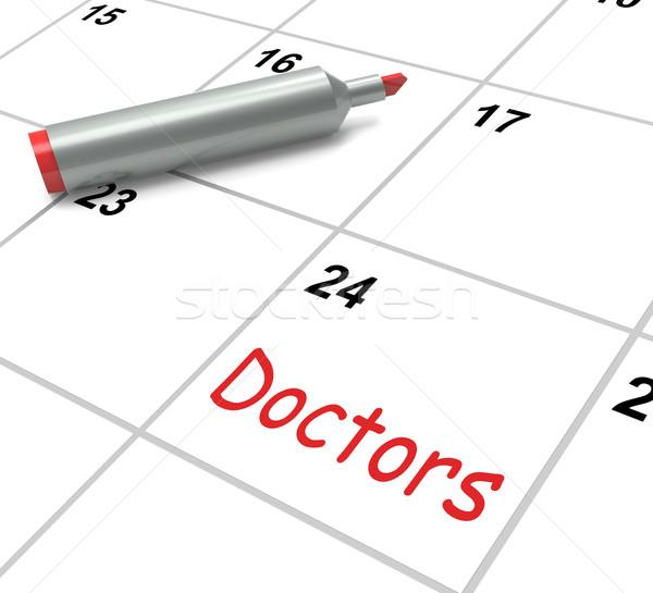Medici calendario medici consultazione significato Foto d'archivio © stuartmiles