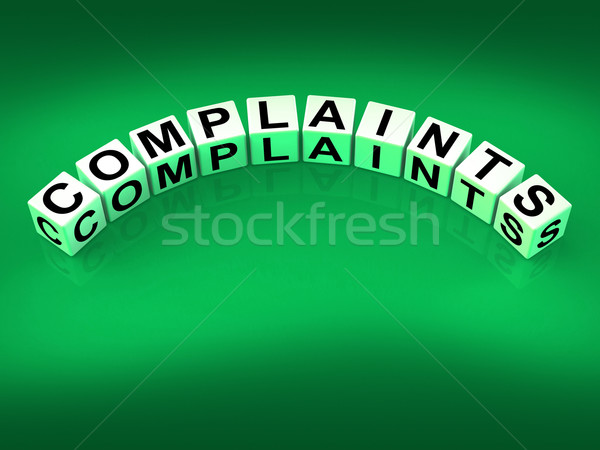 Complaints Dice Means Dissatisfied Angry And Criticism Stock photo © stuartmiles
