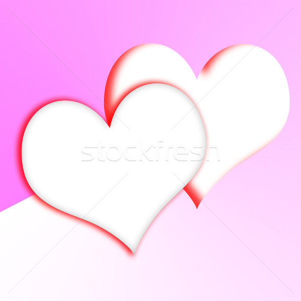 Intertwined Hearts Show Romantic Couple And Marriage Stock photo © stuartmiles