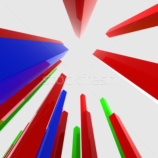 Gráfico informe inversión diagrama estadística análisis Foto stock © stuartmiles