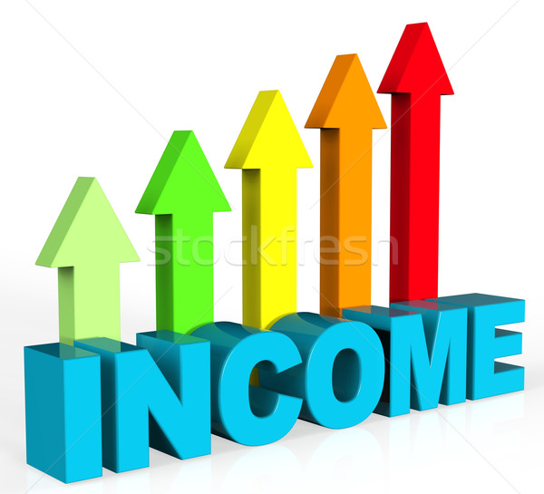 Increase Income Represents Advance Hiring And Growing Stock photo © stuartmiles