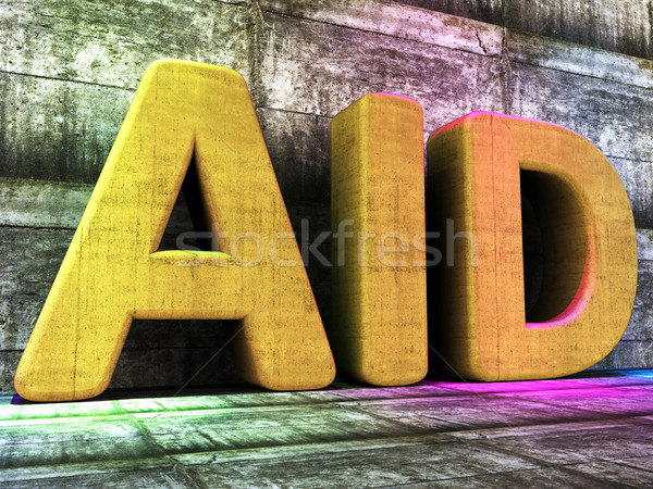 Aid Word Indicates Charitable Assisting And Faq Stock photo © stuartmiles