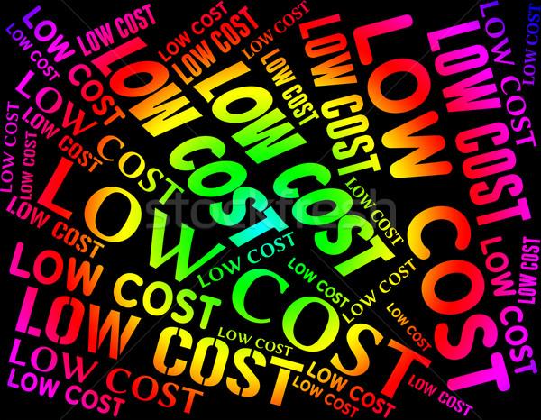 Olcsó árengedmény jelentés lefelé vásár szó Stock fotó © stuartmiles