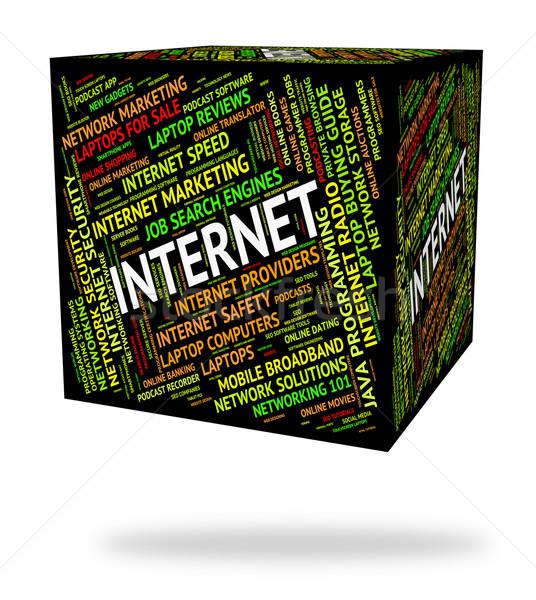 интернет слово всемирная паутина слов сайт Сток-фото © stuartmiles