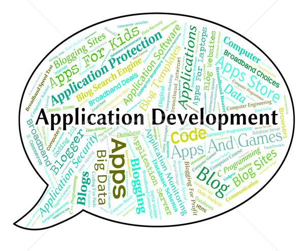 Application Development Shows Programs Enlargement And Regenerat Stock photo © stuartmiles