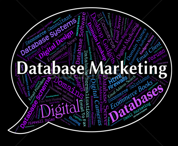Database Marketing Represents Sales Words And Computing Stock photo © stuartmiles