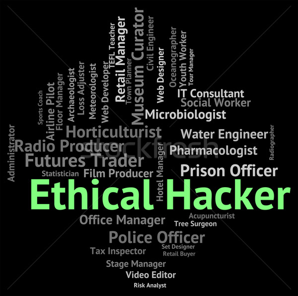 Ethical Hacker Indicates Out Sourcing And Attack Stock photo © stuartmiles