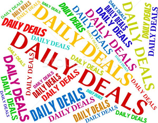 Codziennie dzień codzienny transakcja znaczenie Zdjęcia stock © stuartmiles