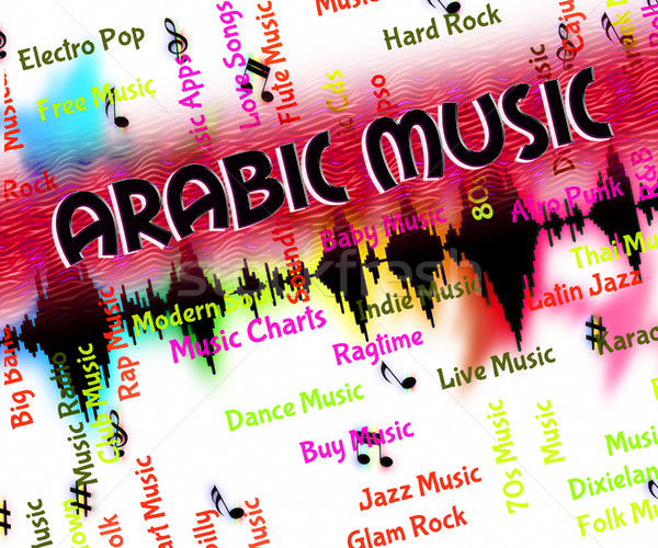Arabic Music Indicates Middle Eastern And Acoustic Stock photo © stuartmiles