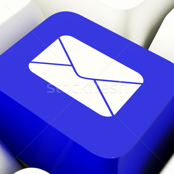 Envelope Computer Key In Blue For Emailing Or Contacting Stock photo © stuartmiles