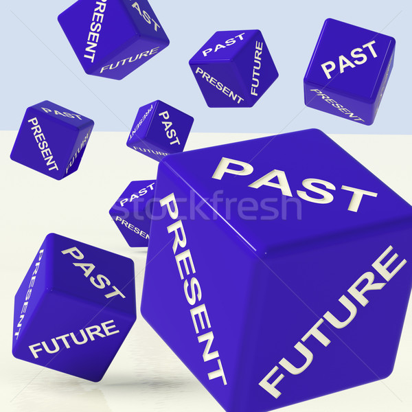 Past Present Future Dice Showing Evolution And Destiny Stock photo © stuartmiles