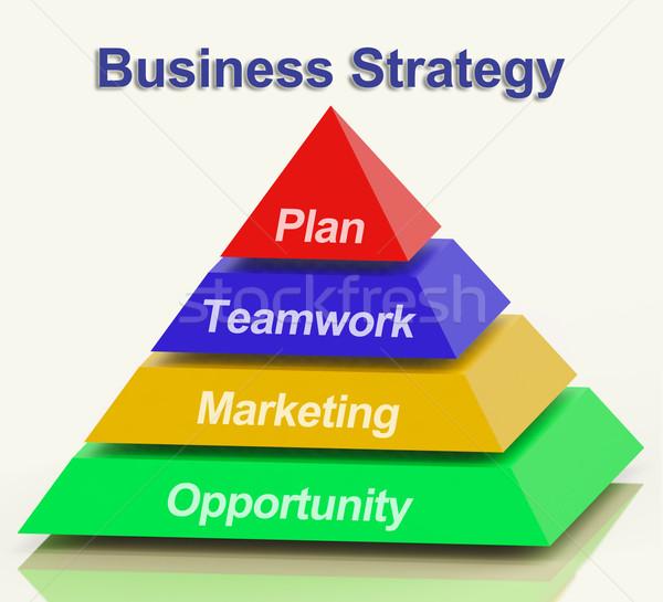 ビジネス戦略 ピラミッド チームワーク 計画 ビジネス ストックフォト © stuartmiles