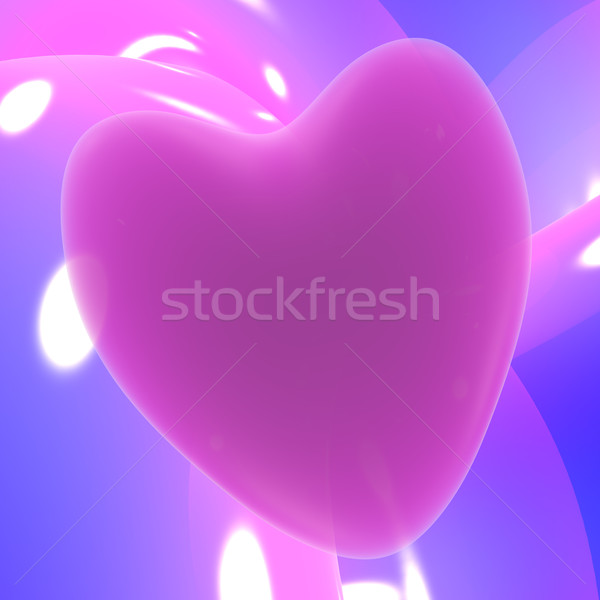 Leylak rengi kalp sevmek romantizm Stok fotoğraf © stuartmiles