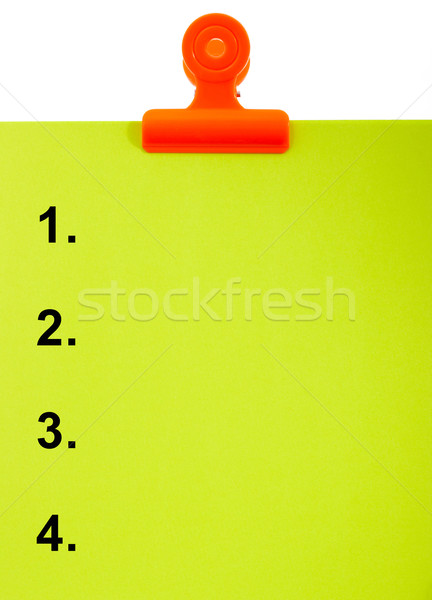 Numbered Clipboard For List Or Top 4 Stock photo © stuartmiles