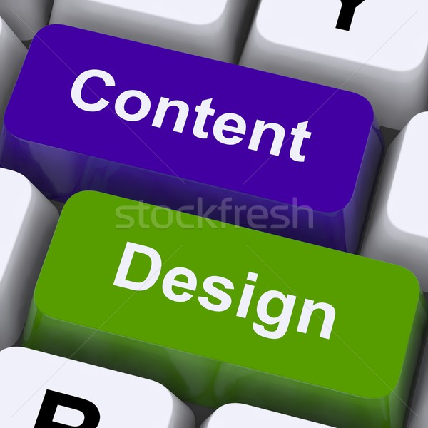Content And Design Keys Show Creative Promotion Stock photo © stuartmiles