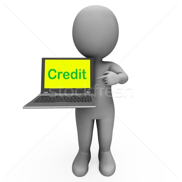 Crédito laptop financiamento internet Foto stock © stuartmiles