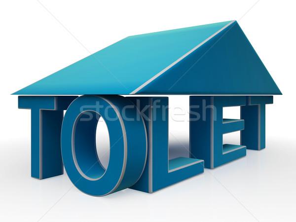 Teken gebouw kantoor verpachting huis Stockfoto © stuartmiles