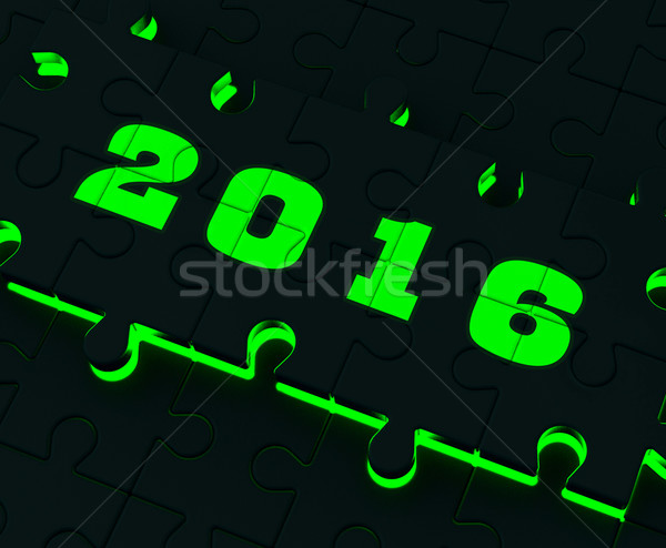 Two Thousand And Sixteen On Puzzle Shows Year 2016 Resolution Stock photo © stuartmiles