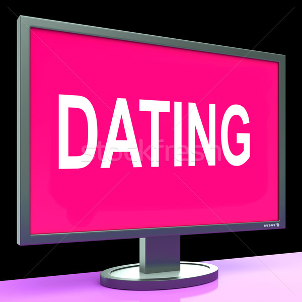 Online Dating Computer Shows Romance Date And Web Love Stock photo © stuartmiles