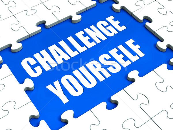 Сток-фото: вызов · себя · головоломки · мотивация
