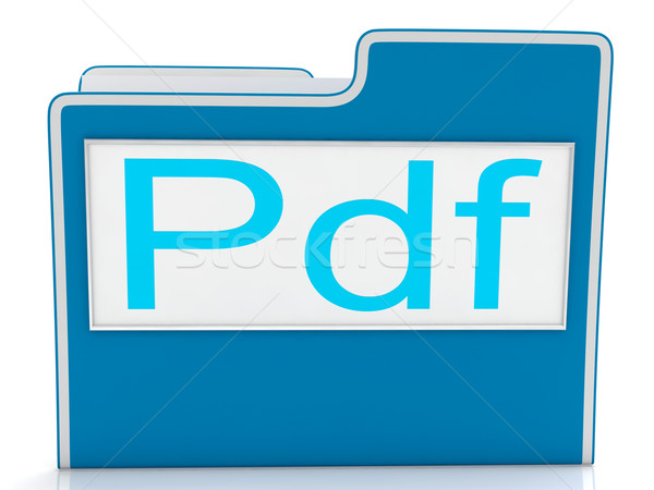 Pdf File Shows Document Format Or Files Stock photo © stuartmiles