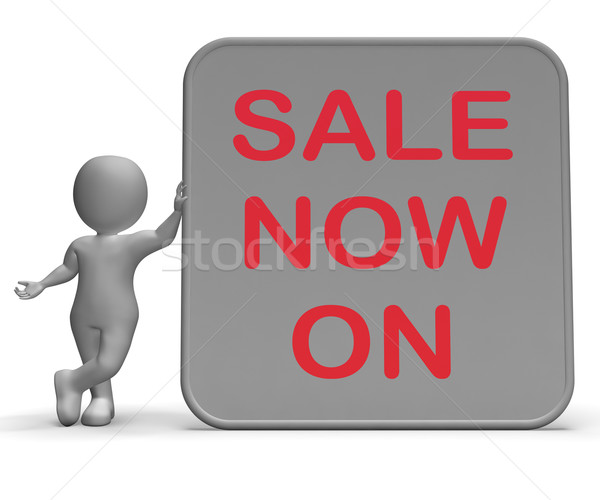 Sale On Now Sign Shows Product Specials And Lower Prices Stock photo © stuartmiles