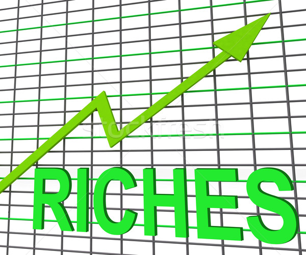 Riches Chart Graph Shows Increase Cash Wealth Revenue Stock photo © stuartmiles