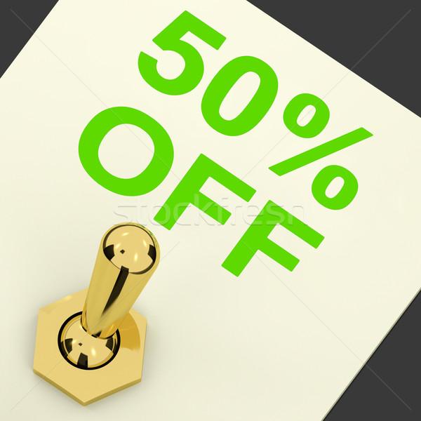 Cambiar venta descuento cincuenta por ciento Foto stock © stuartmiles