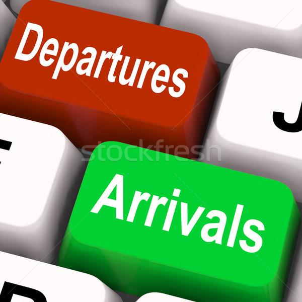 Vertrektijden sleutels reizen vakantie betekenis internet Stockfoto © stuartmiles
