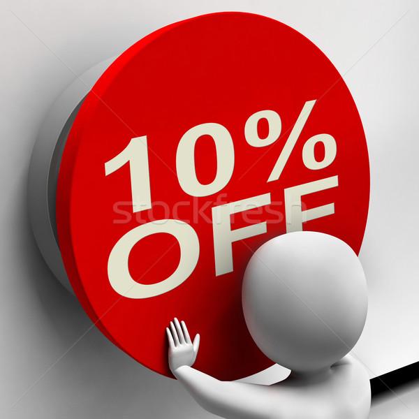 Dieci cento pulsante 10 vendita Foto d'archivio © stuartmiles