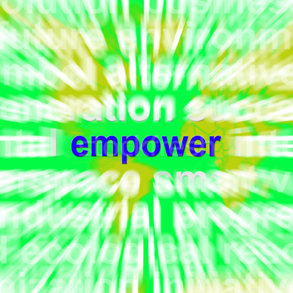 Empower Word Cloud Means Encourage Empowerment Stock photo © stuartmiles
