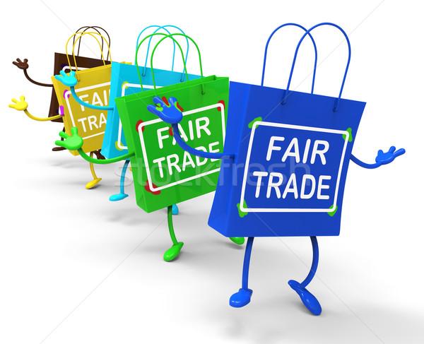 Justo comercio bolsas mostrar igual Foto stock © stuartmiles