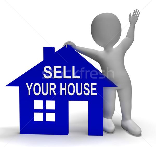 продавать дома домой собственности рынке Сток-фото © stuartmiles