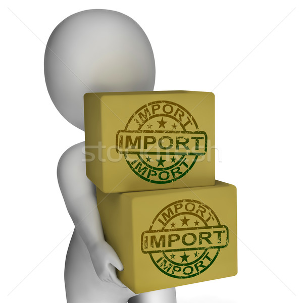 Import Boxes Show Imported Global Goods And Merchandise Stock photo © stuartmiles