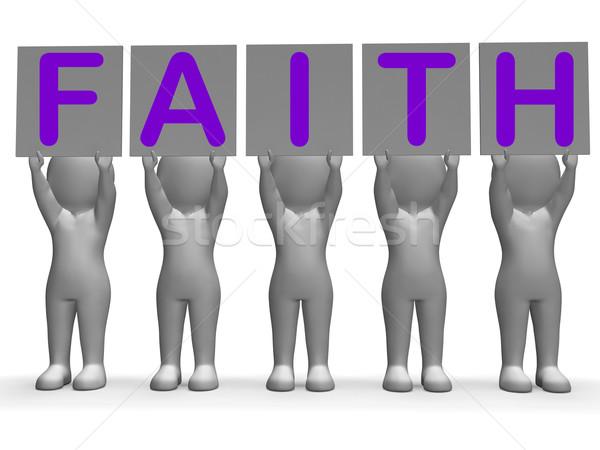 веры Баннеры вера религии поклонения Сток-фото © stuartmiles