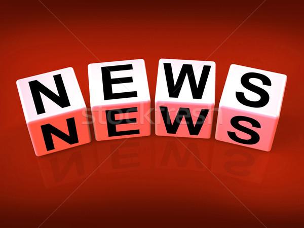Wiadomości bloków pokaż nadawanie zapowiedź nagłówki Zdjęcia stock © stuartmiles