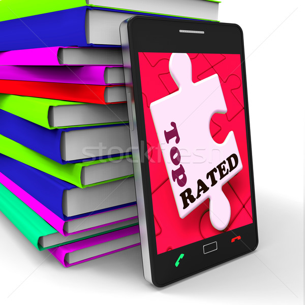 Top Rated Smartphone Shows Internet Number One Or Best Seller Stock photo © stuartmiles