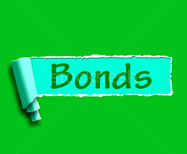 Bonds Word Means Online Business Connections And Networking Stock photo © stuartmiles