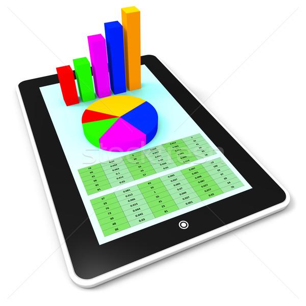 çevrimiçi rapor world wide web iş grafik bilgisayar Stok fotoğraf © stuartmiles