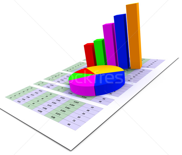 Pie Chart Indicates Stat Graphics And Infochart Stock photo © stuartmiles