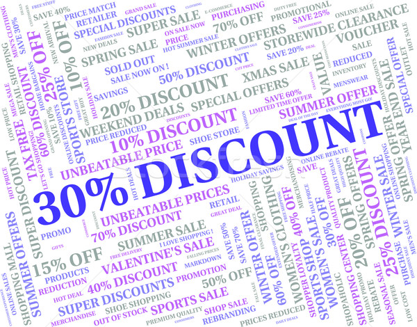 Thirty Percent Off Indicates Save Offers And Words Stock photo © stuartmiles