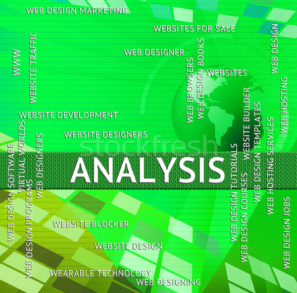 Analysis Word Represents Words Investigation And Investigate Stock photo © stuartmiles