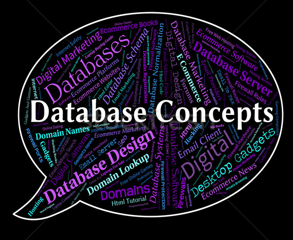 Database Concepts Means Idea Invention And Ideas Stock photo © stuartmiles