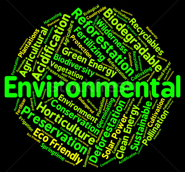 Environmental Word Indicates Earth Day And Ecological Stock photo © stuartmiles