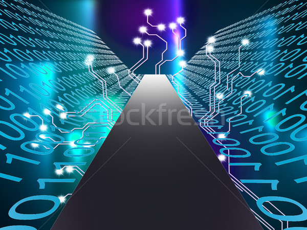 Stockfoto: Digitale · pad · hi-tech · computer · tonen · hoog