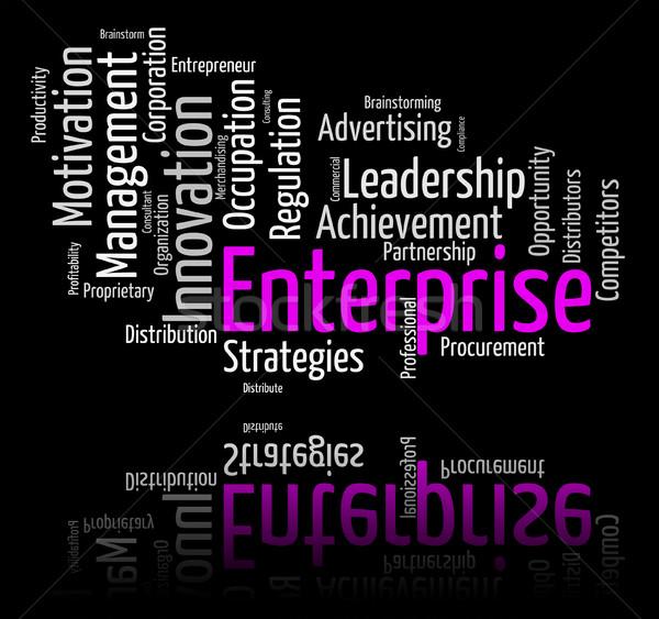 Empresa palavra organização palavras significado negócio Foto stock © stuartmiles