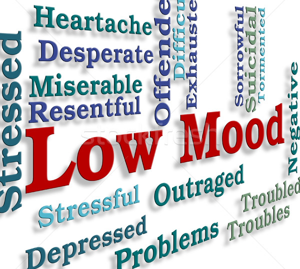 Low Mood Means Broken Hearted And Despairing Stock photo © stuartmiles
