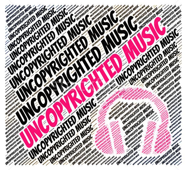 Zene szellemi tulajdon jogok jelentés exkluzív munka Stock fotó © stuartmiles