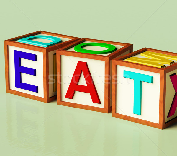 Stock photo: Blocks Spelling Eat As Symbol for Eating And Diet