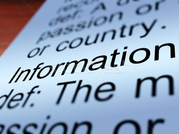 情報 定義 クローズアップ 知識 データ ストックフォト © stuartmiles